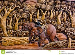Wood Carving Free Download by Wood Carving Of Working Elephant Royalty Free Stock Photo Image