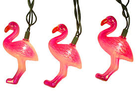 pink flamingo patio lights set of 10 tropical pink flamingo party novelty christmas lights