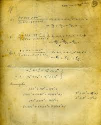 this is the famous page from ramanujan s lost notebook on which