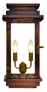 electric lights that look like gas lanterns contempo wall mount gas lantern the coppersmith french market