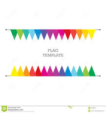 flag geometric banner background bunting or swag template for