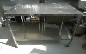 Etagere Metal Occasion Table De Lit A Roulettes Table Inox Sur Roulettes Avec étagère Et Plateau Sdtech Equipements