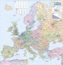 Map Of The Europe by 2016 Collins Road Map Of Europe 1 5m Collins Maps 9780008146368