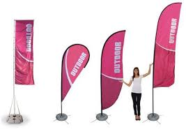 outdoor banners and flags printed with your logo