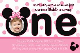 minnie mouse 1st birthday invitation wording 100 images minnie