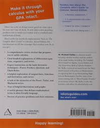 the complete idiot u0027s guide to calculus 2nd edition w michael