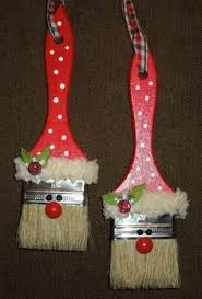 santas paintbrush ornaments paintbrush santa ornaments
