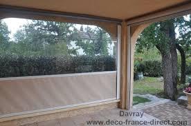 terrasse transparente store enrouleur exterieur