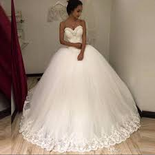 strapless wedding dresses strapless 2018 new white beaded lace tulle gown
