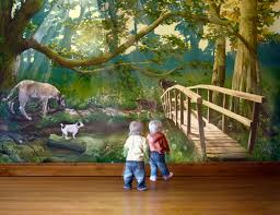 Wall Mural Forest Sunrise Wall Forest Mural Bedroom Descargas Mundiales Com