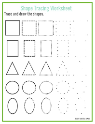 free printable large shapes mathrksheets free shape tracing printables school stuff pinterest