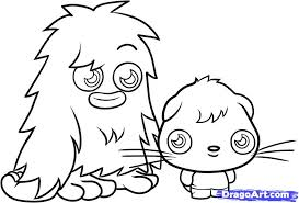 how to draw moshi monsters step by step characters pop culture