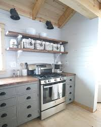 open shelf kitchen cabinet ideas white open shelves for our cabin kitchen diy projects