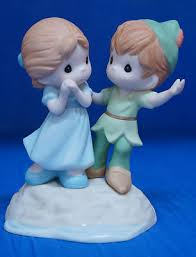 disney precious moments figurine pan wendy never lost with