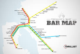 Miami Train Map by Best Bars Near Every Bart Stop Sf Oakland Bay Area Thrillist