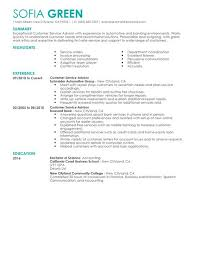 Automotive Service Advisor Resume Sample by Best Customer Service Advisor Resume Example Livecareer