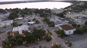 aerial views of downtown winter haven fl youtube