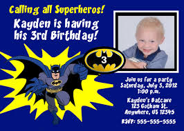 Birthday Invitation Cards For Kids First Birthday Batman Invitations Card Templates Ideas Free Invitations Ideas