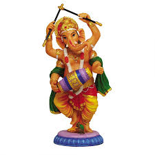 dancing ganesha hindu god full color statue for luck remover of