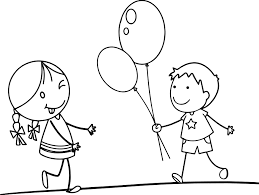 balloon funny cartoon pictures for children coloring page