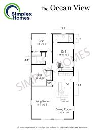 Oceanview House Plans by Simplex Homes Beach Modular Home Ocean View