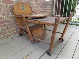 antique wooden baby high chair converts into play toy chair 130 00 via