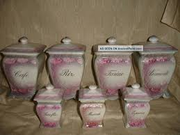 antique kitchen canister sets floral kitchen canisters home design ideas and pictures