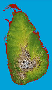 Relief Map Maps Of Sri Lanka Detailed Map Of Sri Lanka In English Tourist