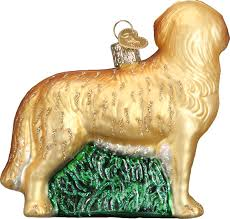 world christmas world christmas golden retriever glass tree ornament 3 5 inch