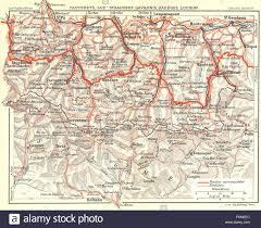 Lourdes France Map by Hautes Pyrenees Lourdes Cauterets Luz Gavarnie 1926 Vintage