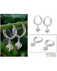 thailand earrings spectacular deal on novica handmade sterling silver heart halo