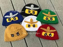 Lego Ninjago Costumes Halloween Crochet Ninjago Hat Lego Ninjago Hat Halloween Costume