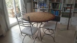 table de cuisine en fer forgé tables ronde occasion à antibes 06 annonces achat et vente de