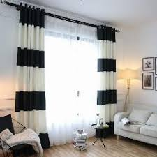 new mediterranean black and white striped curtains polyester 85