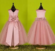 Flower Girls Dresses For Less - custom made beautiful pink flower girls dresses for weddings 2016
