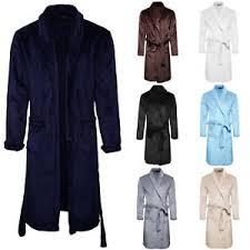 femme de chambre chaude mens womens deluxe dressing gown robe bathrobe warm fleece towelling