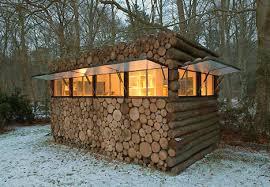 wood cabin modern mobile log cabin or portable prefab pile of logs