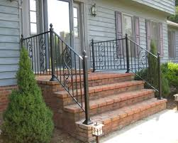Banister Railing Home Depot Stairs Glamorous Outdoor Handrails For Steps Marvelous Outdoor