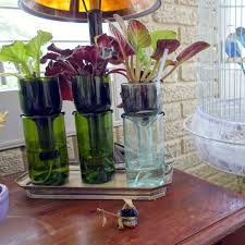 wine bottle planter archives drinkware and home decor made from