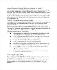 construction business plan template 9 free sample example