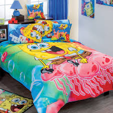 toddler bed bedding for girls spongebob adventure comforter set size full 7 piece reversible