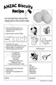 anzac biscuits jumbled recipe anzac day teacher resources