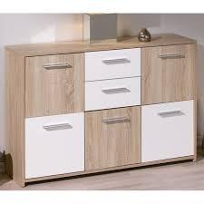 meuble commode chambre commode 5 portes 2 tiroirs chêne elvezia achat vente commode