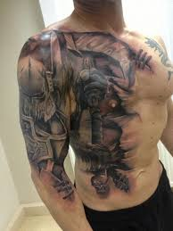 29 best warrior chest tattoos images on fighter tattoos