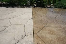 Colored Concrete Patio Pictures Stamped Concrete Patio Cleaning U0026 Sealing In St Charles Il Il