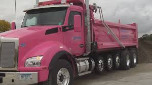 keyc local construction company raises donations with pink dump