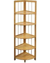 Corner Wall Bookcase Amazing Deal On Bamboo Corner Wall Shelves 3 4 5 Tier Shelf