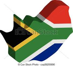 3d africa map vector 3d vector flag map of south africa eps vectors search clip