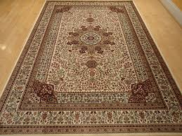 Rug 7x10 Amazon Com Silk Ivory Rugs Persian Tabriz Rug 7x10 Living Room