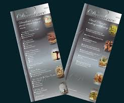 modern professional menu design for robin franklin by